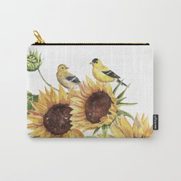 Sunflowers and Goldfinch  Carry-All Pouch