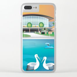 Adelaide, Australia - Skyline Illustration by Loose Petals Clear iPhone Case