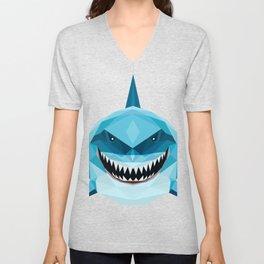 shark blue Unisex V-Neck