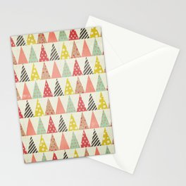 Whimsical Christmas Trees Stationery Cards