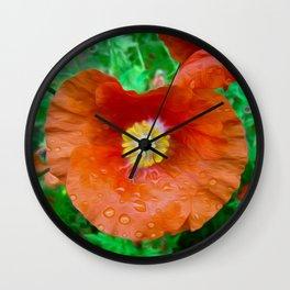Poppy Art Wall Clock
