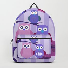 Purple Owls Backpack