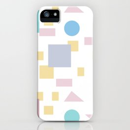 Bauhaus geometric modern shapes iPhone Case