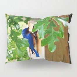 Bluebird at Nesting Box Pillow Sham