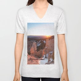 Bryce Canyon Sunrise Unisex V-Neck
