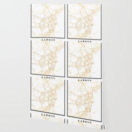 AARHUS DENMARK CITY STREET MAP ART Wallpaper
