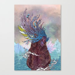 Journeying Spirit (Bear) Canvas Print