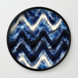 INDIGO WASH Wall Clock
