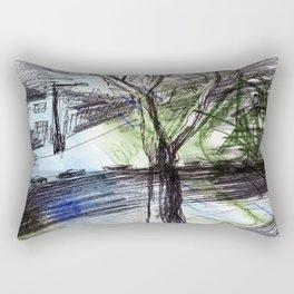 Night tree Rectangular Pillow
