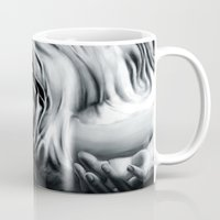 siren Mugs featuring Siren by Rachel A. Dehnel Illustration