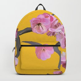 Plum Blossom Pattern Yellow Backpack