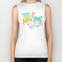 new year Biker Tanks featuring New Year by Chelsea Herrick