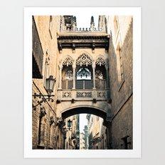 Old Barcelona Art Print