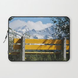 Bench and Mountain Landscape Laptop Sleeve