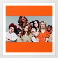 oitnb Art Prints featuring OITNB by I Love Decor