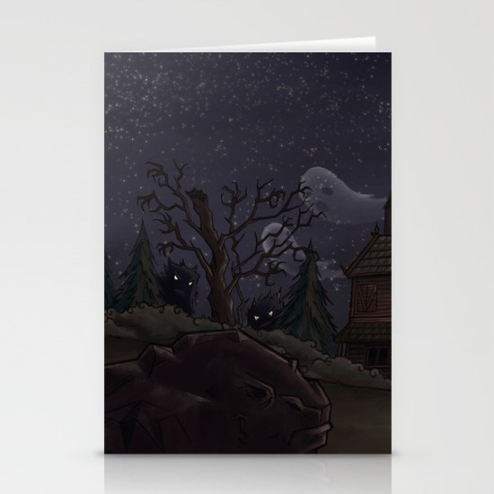 I was too fond of the stars Stationery Cards