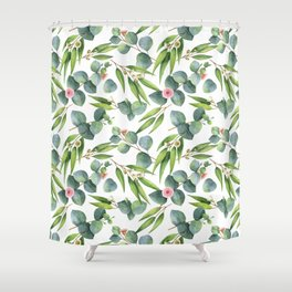 Bamboo and eucaliptus pattern Shower Curtain