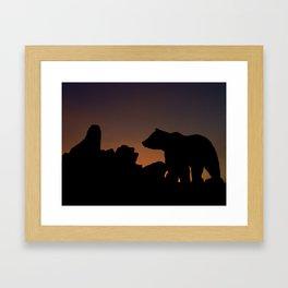 Sunset Trek  Framed Art Print