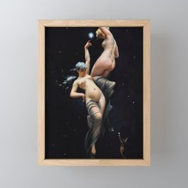 "Luis Ricardo Falero ""Reaching for the Stars (also known as Moonlit Beauties)"" Framed Mini Art Print"