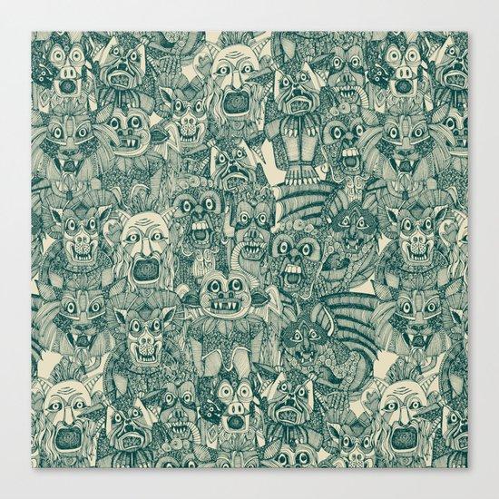 gargoyles teal Canvas Print