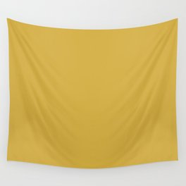 Yellow Mustard D4AE40 Wall Tapestry