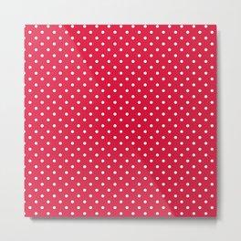 Dots (White/Crimson) Metal Print