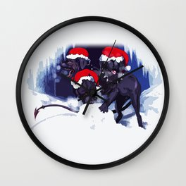 Cerberus Christmas  Wall Clock