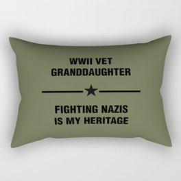 WWII Granddaughter Heritage Rectangular Pillow