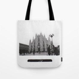 Milan in Black & White Tote Bag