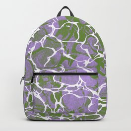 Genderqueer Pride Abstract Overlapping Webbed Colors Backpack
