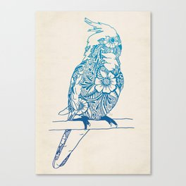 Henna Cockatiel Canvas Print