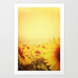 Delving in Yellow Art Print