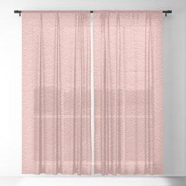 Sea Pink Sundown Sheer Curtain