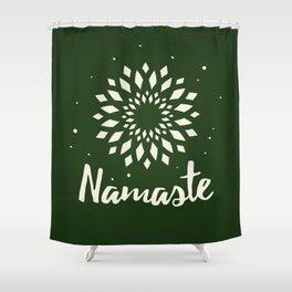 Namaste Mandala Flower Power Shower Curtain