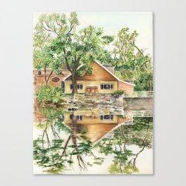 Cedarburg, Wisconsin Reflecting Pond View Canvas Print
