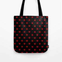 goat patterns black and red 1 Tote Bag