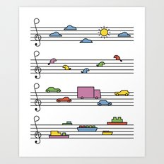 Life In Tune Art Print
