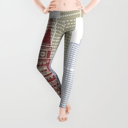 Denver skyline poster Leggings