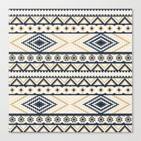 aztec Canvas Prints featuring AZTEC by Oksana Smith