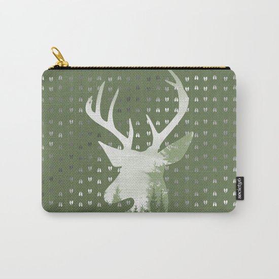 Green Deer Abstract Footprints Landscape Design Carry-All Pouch