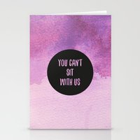 mean girls Stationery Cards featuring Mean Girls by Lonely Pluto