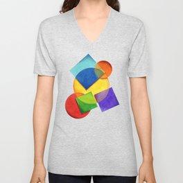 Rainbow Candy Geometric Unisex V-Neck