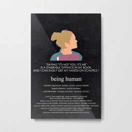 Being Human - Nina Pickering Metal Print