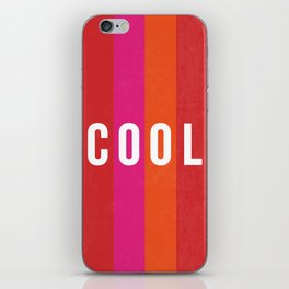 Cool Type on Warm Colors iPhone Skin