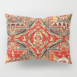 Mandala Buddhist 3 Pillow Sham
