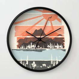 Morning by Bear River... Wall Clock