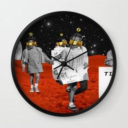 Galactic Walkers Wall Clock
