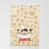 cook Stationery Cards featuring Let's Cook! by Lalaine Lim