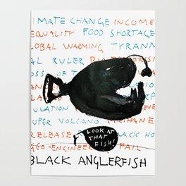 Black Anglerfish Poster