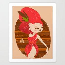 RedHair Diva Art Print